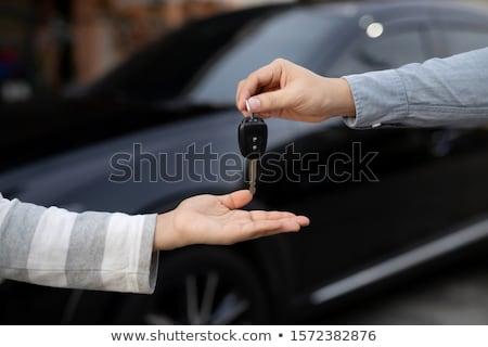 Eller kilitlemek kapı ev ahşap çalışmak Stok fotoğraf © bezikus
