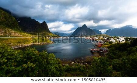 Сток-фото: живописный · живописный · вокруг · Церкви · Норвегия