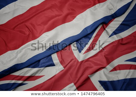 United Kingdom and Costa Rica Flags  Stock photo © Istanbul2009