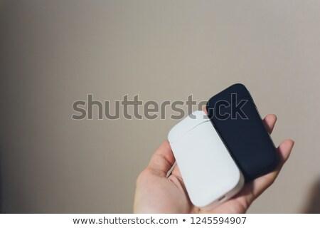 Blauw huis vrouw hand geïsoleerd witte Stockfoto © tetkoren