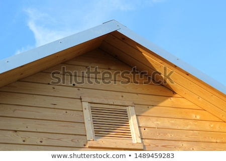 old wooden roof stock photo © imaster