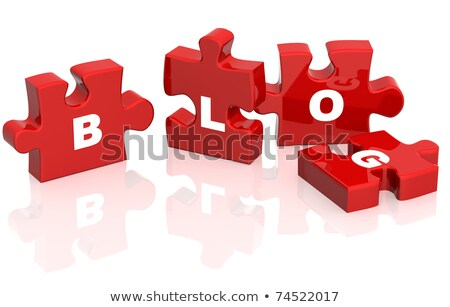 Blog rojo rompecabezas blanco negocios Internet Foto stock © tashatuvango