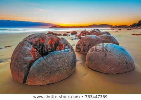 Famous Moeraki boulder Stock photo © Hofmeester