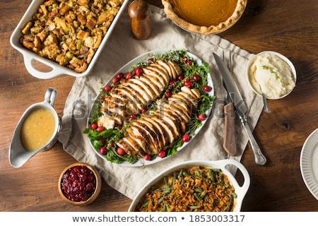 Turquia peito batatas fatias salada Foto stock © Digifoodstock