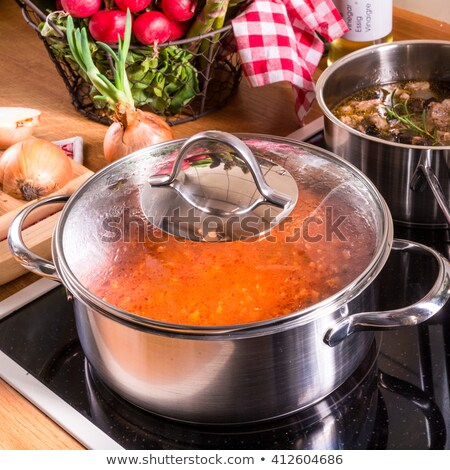 grande · pan · espacio · cocina · moderna · nuevos - foto stock © jonnysek