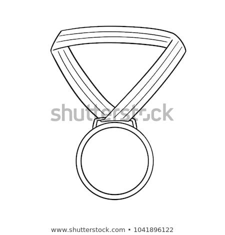 スケッチ · 勝者 · トロフィー · 実例 · 白 · デザイン - ストックフォト © bluering