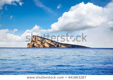 Benidorm island in Mediterranean Alicante Stock photo © lunamarina