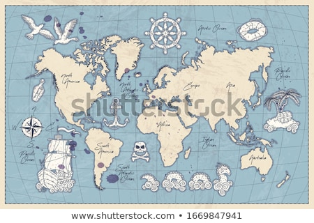 Vector Pirate Globe Concept Stock photo © dashadima