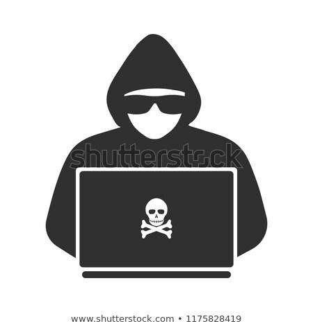 Hacker bűnöző internet anonim biztonság adat Stock fotó © jossdiim