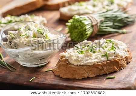 Ciotola formaggio fresche erba cipollina basket Foto d'archivio © Digifoodstock