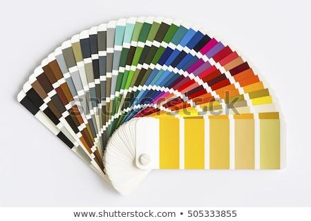 szín · paletta · izolált · fehér · katalógus · útmutató - stock fotó © goir