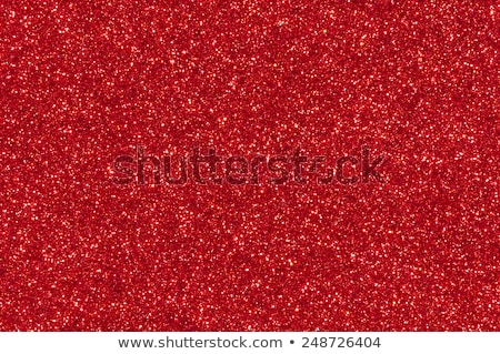 Xmas decoration on sparkly red glitter background Stock photo © alphaspirit