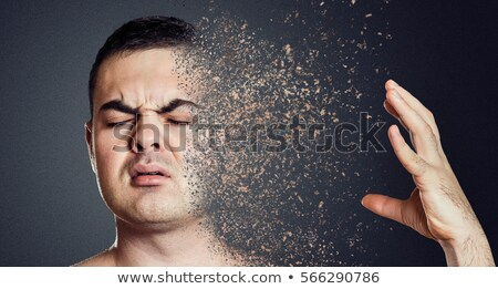 Mental health concept with depressive man dissolving Stock photo © stevanovicigor