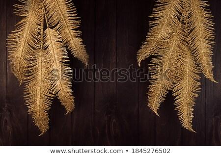 díszítések · sötét · fából · készült · ünnepi · papír · konfetti - stock fotó © neirfy