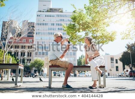 photographer having fun with his photographs Stock photo © Giulio_Fornasar