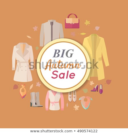 Big Autumn Fall Outerwear Sale Banner Poster. Stock photo © robuart