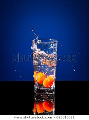 квадратный · томатный · капли · воды · изолированный · капли - Сток-фото © kayros
