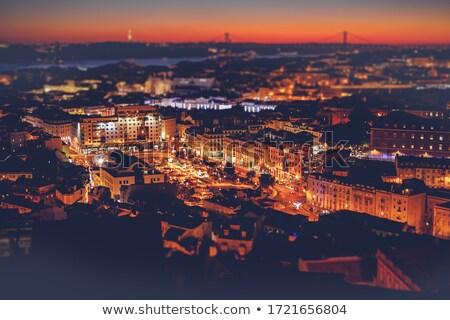 Colorido horizonte aéreo panorámica vista hermosa Foto stock © joyr
