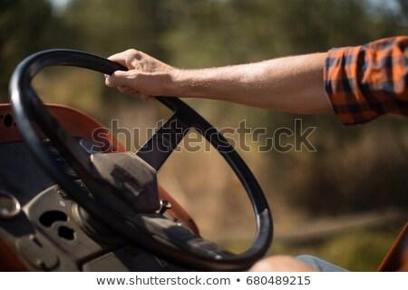 человека вождения трактора оливкового фермы Сток-фото © wavebreak_media