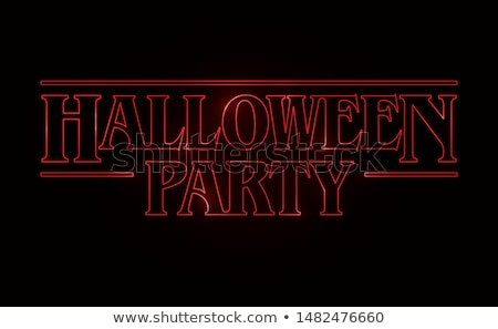 Halloween buli szöveg logo szerkeszthető vektor Stock fotó © thecorner