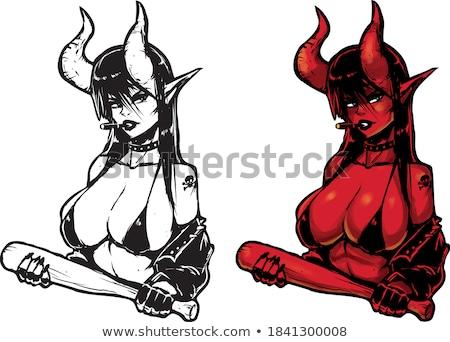Cartoon · вампир · девушки · женщину · стороны · дизайна - Сток-фото © jiaking1