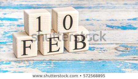 cubes 10th february stock photo © oakozhan