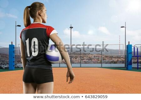 vôlei · jogador · voleibol · campo · homem · pessoa - foto stock © wavebreak_media