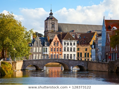 classic view of channels Bruges Stock photo © artjazz