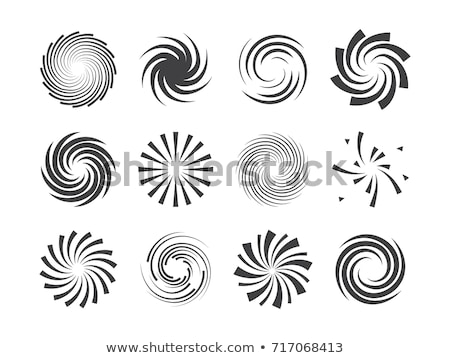 Illustration of abstract rotated circles  Stock photo © MONARX3D
