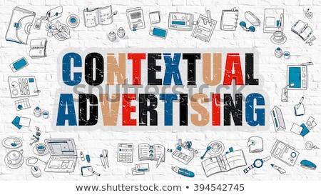 Publicidade rabisco projeto branco parede Foto stock © tashatuvango