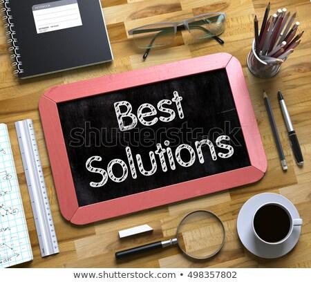 best solutions on small chalkboard 3d stock photo © tashatuvango