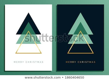 Weihnachten Dekoration Gruß Prämie golden Stil Stock foto © SArts