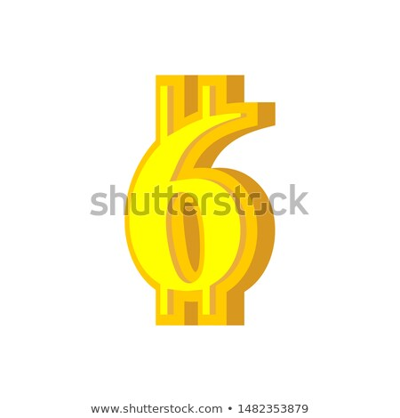 6 numeral bitcoin font six numeric crypto currency alphabet le stock photo © popaukropa