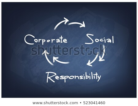 Business Success - Cartoon Illustration on Blue Chalkboard. Stock photo © tashatuvango