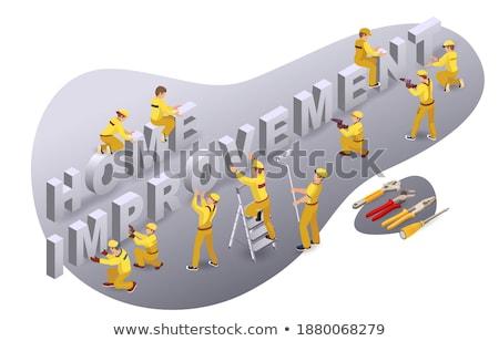 Service Improvement - Cartoon Yellow Word. Stock photo © tashatuvango