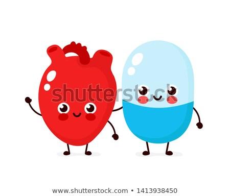 Kabala szív kiegészítő illusztráció elvesz vitamin Stock fotó © lenm
