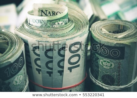 Pile of Rolled Polish Banknotes Stock photo © FOTOYOU