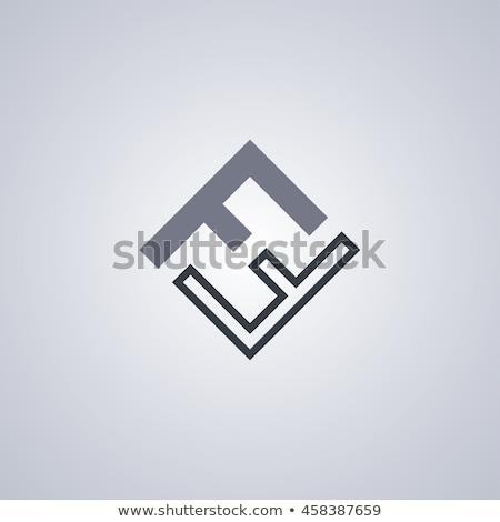 carta · logo · arte · construcción · diseno - foto stock © vector1st