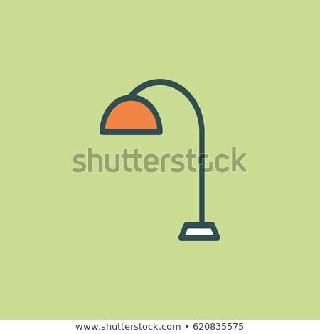 Velho estilo secretária lâmpada ícone escritório Foto stock © studioworkstock