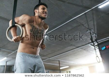 スポーツウーマン · バーベル · アスレチック · ジム · 男性 - ストックフォト © wavebreak_media