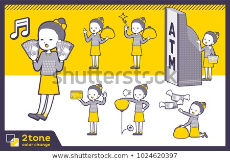 2tone type Polka dot clothes ribbon girl_set 11 Stock photo © toyotoyo