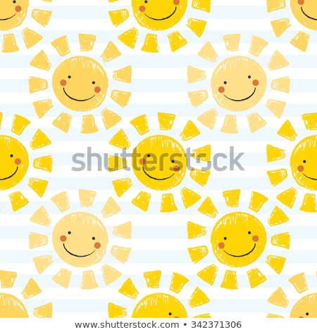 Fun icon faces striped seamless vector pattern. stock photo © yopixart