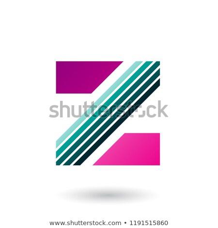 Magenta verde diagonal vetor Foto stock © cidepix