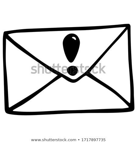 Envelop uitroepteken schets doodle icon Stockfoto © RAStudio