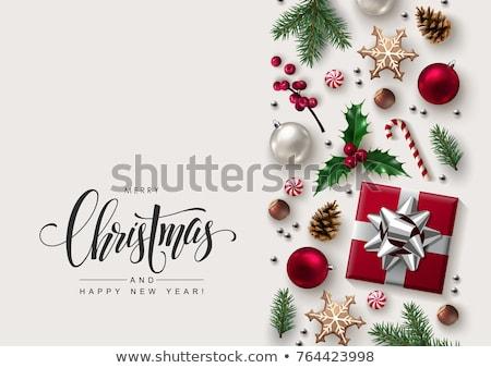 Karácsony üdvözlőlap kalligrafikus évszak kívánságok ünnepi Stock fotó © ikopylov