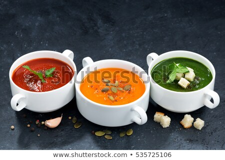 çanak çorba et suyu akşam yemeği pişirme diyet Stok fotoğraf © M-studio
