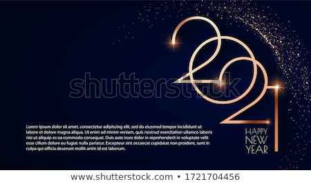Karácsony új év réz luxus üdvözlőlap vidám Stock fotó © cienpies