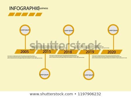 Iş zaman Çizelgesi şablon adımlar vektör Stok fotoğraf © kyryloff