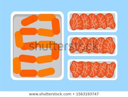 carne · vetor · salsichas · fresco · ícone · jantar - foto stock © robuart