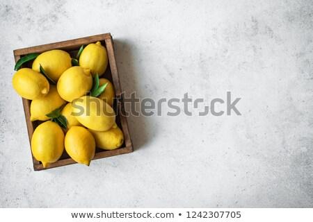 Mand citroen illustratie vruchten achtergrond foto Stockfoto © colematt